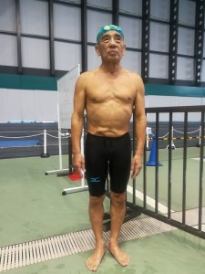 下野 育朗 さん 男子200m個人メドレー 80歳区分 3:23.31